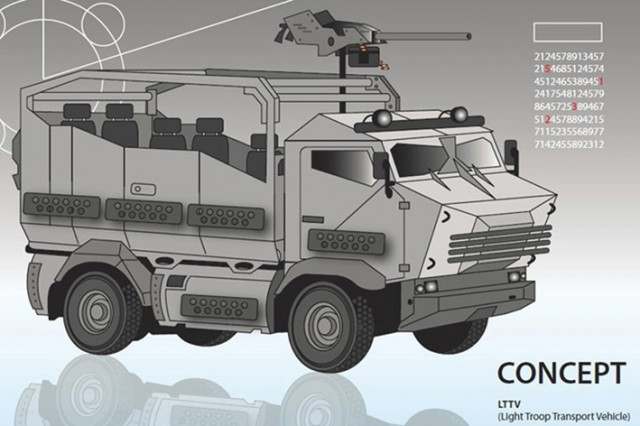 Et voici le concept de LTTV dévoilé aujourd'hui par le ministère de la Défense belge, très proche du Mungo ESK allemand (Crédit photo: ministère de la Défense de Belgique)