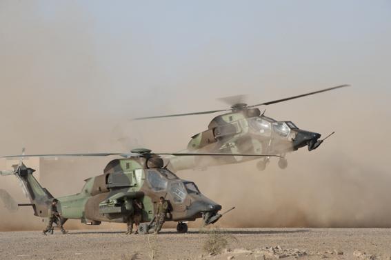 Des Tigre sont déployés au Mali dans le cade de l'Opération Serval