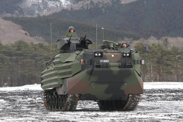 Premier AAV-7 japonais reçu en 2015 (Defence Blog)