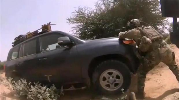 Véhicule des quatre hommes des FS américaines lors de l'embuscade de Tongo Tongo