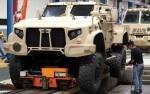 Une chaîne d'assemblage de véhicules JLTV (Crédit: Oshkosh Defence)