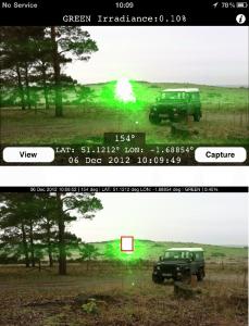 Voici à quoi ressemble l'interface de LERapp (Crédit photo: Dstl)