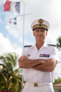 Le contre-amiral Réné-Jean Crignola, commandant des forces armées aux Antilles (FAA)