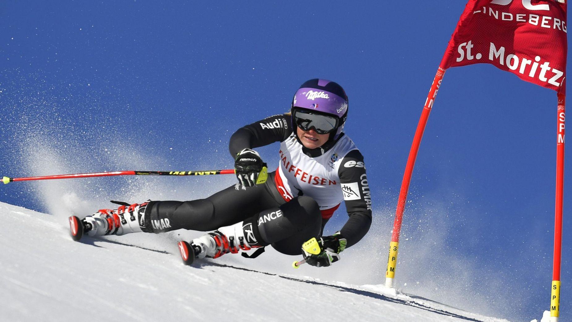 Tessa Worley à décroché aujourd'hui son deuxième titre de Championne du Monde du slalom géant