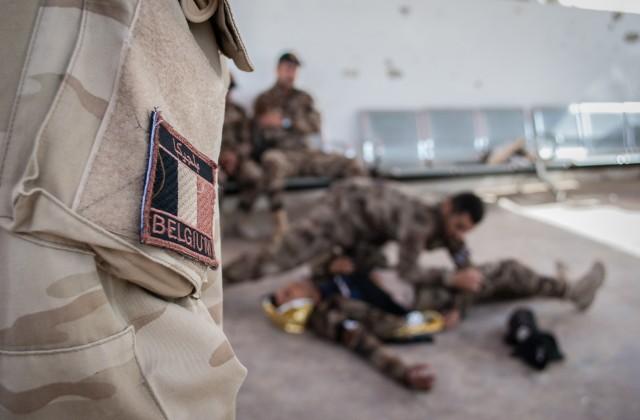 Un soldat belge déployé en Irak au sein de l'opération Vailant Phoenix (Crédit: DGCom/Défense)