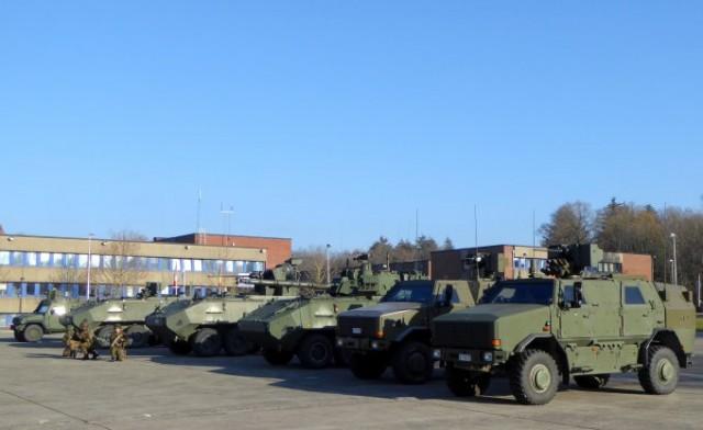 Les véhicules de combat mis en oeuvre par la Brigade Mécanisée (photo : Forces Operations)