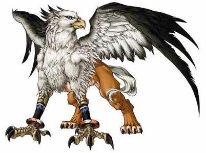 Dans les mythologies anciennes le griffon (griffin en anglais)  est une créature avec la tête, les ailes et les serres d'un aigle, et l'abdomen, les pattes et la queue d'un lion ; il est muni d'oreilles de cheval