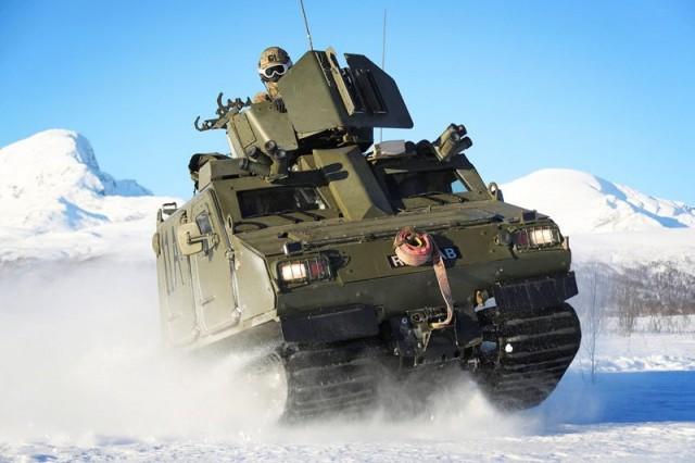 Un BvS 10 Viking des Royal Marines (Crédit photo: Ministère de la Défense britannique)