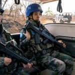 Le bataillon chinois de la mission de l'ONU au Soudan du Sud (UNMISS) lors d'une patrouille quotidienne (Crédit photo: ONU/JC McIlwaine)