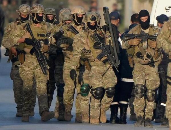 Les hommes du Groupement de forces spéciales tunisiens