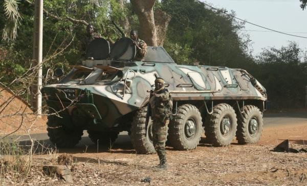 Un BTR du GTIA Balanzan crédits: G Belan