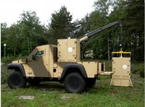 Un véhicule de transport du système BARIER (Crédit photo: Atermes)