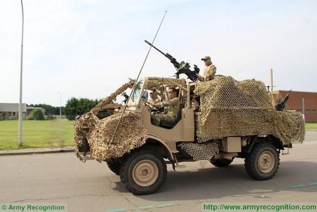 Mercedes-Benz Unimog JAKAL des Special Forces belges. Ce matériel sera bientôt remplacé (photo: Army Recognition)
