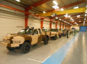 photographié en sortie de chaine, le 1000ème ALTV produit par Renault Trucks Defense.