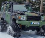 Un véhicule Masstech équipé d'un kit de chenilles (Crédit photo: Technamm)