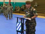 Le général Hubert Cottereau lors de son accueil officiel au sein de la 3e DI américaine, le 15 août (Crédit: 3e DI, sergent-major Shelia Cooper)