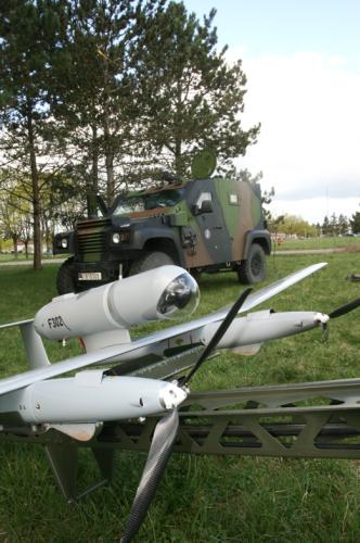 Le DRAC sur sa lance de lancement  (Crédits; G Belan)