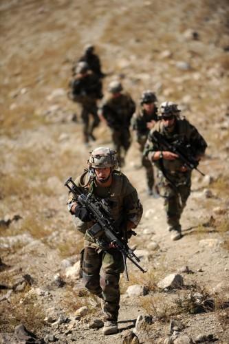 Des fantassins en opération (crédit photo: armée de terre)