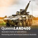 Affiche du gouvernement du Queensland en soutien à l'offre de Rheinmetall pour la compétition du Land 400 Phase 2