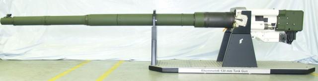 Le démonstrateur de canon calibre 130 mm présenté par Rheinmetall cette semaine (Crédit: Rheinmetall Group)