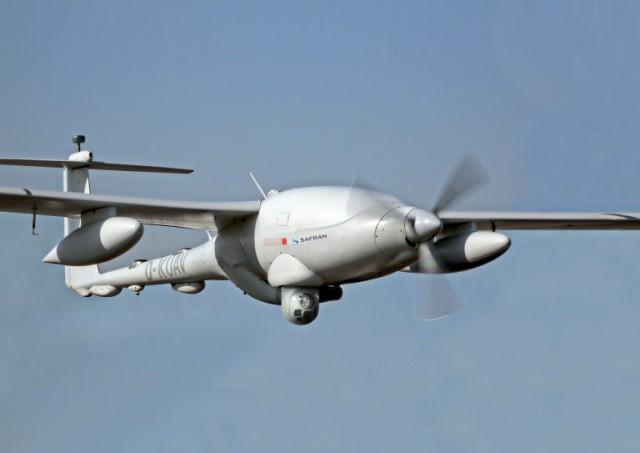 L'Euroflir 410 NG monté sur un drone Patroller (Crédit photo: Safran Electronics & Defense)