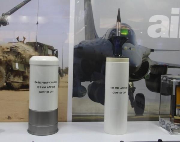 Nexter Munitions dévoilait la semaine dernière son premier prototype d'obus flèche de 125 mm destiné notamment au marché indien