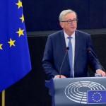 le président de la Commission européenne Jean-Claude Juncker ce matin face au Parlement européen à Bruxelles