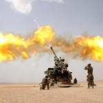 Une batterie de quatre canons CAESAR opérera bientôt au départ de la base aérienne de Qayyarah (Crédit photo: Nexter Group)