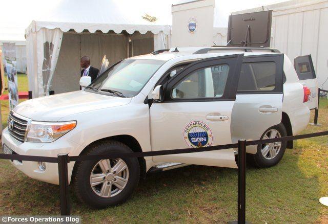 Le véhicule Fortress Intervention du GIGN, présenté par Centigon en janvier en Côte d'Ivoire