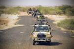Une colonne de véhicules maliens et français en mouvement pendant l'opération Haw Bi (Crédit photo: EMA)