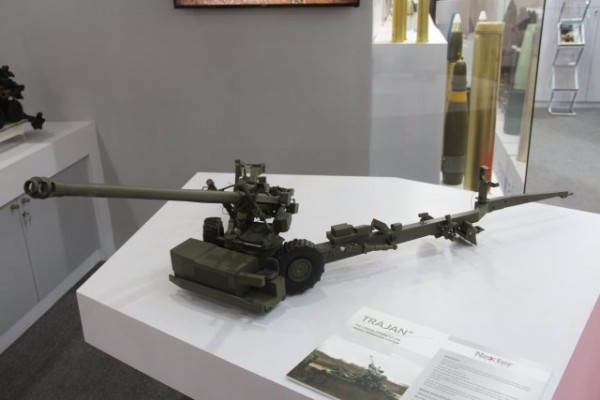 Le canon de 155mm Trajan, engagé dans le programme indien TGS (Crédit photo: FOB)