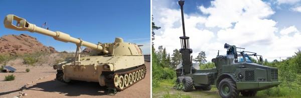 ...de même que les USA et leur M109A5 Paladin et BAE Systems avec son Archer