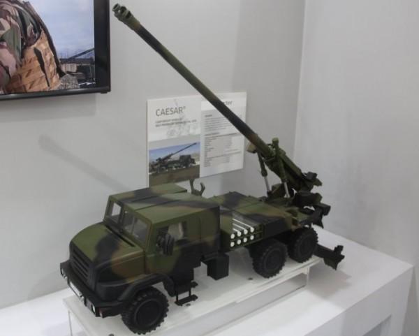 Plus de 800 canons automoteurs CAESAR (ici sans son châssis Ashok Leyland) pourraient un jour intégrer l'armée indienne (Crédit photo: FOB)
