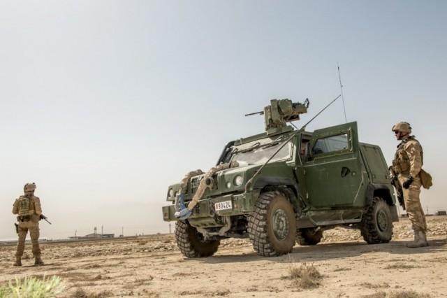 Deux membres du Bataillon ISTAR, déployé depuis avril 2018 à Mazar-e-Sharif (Crédit photo: Défénse belge/Daniel Orban)