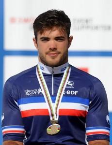 Mathieu Bosredon, 25 ans, cyclisme-handbike, course en ligne, course contre la montre. Médaillé de bronze de course en ligne aux Championnats du monde 2015.