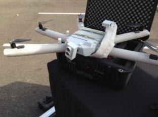 """Les """"bras"""" gonflables du drone rendent le système extrêmement compact (Crédit: Christina Mackenzie)"""