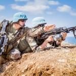Exercice Steel Storm 2015: le contingent français s'entraine au tir sur cibles (Etat-major des armées / armée de Terre)