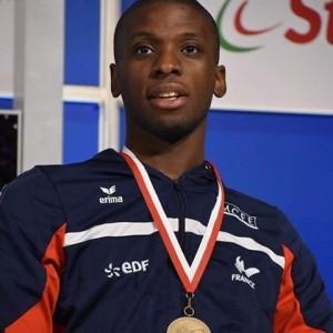 Yannick Ifebe, 24 ans, escrime, épée individuel et par équipe, catégorie B (sans équilibre du tronc). Champion du monde par équipe 2015, Champion d'Europe en individuel en titre.