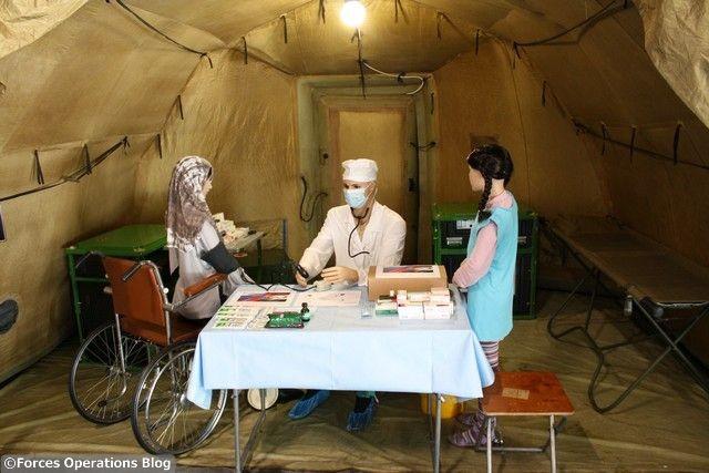 Reconstiution d'un poste médical russe