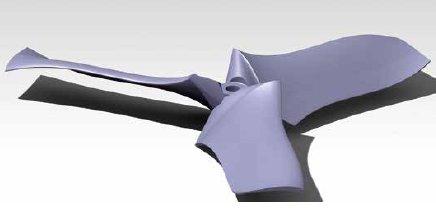 L'un des modèles de pale furtive étudié par Ronan Serré et Supaero (Crédit photo: Ronan Serré/ISAE-Supaero/DGA)