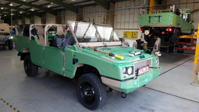 """Jankel RRV """"Fox"""" prêt pour essai routier à partir de l'usine de Rustington avant livraison à l'armée belge (photo : Forces Operations)."""