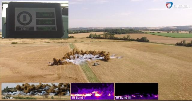 Une illustration de la capacité de couverture multispectrale du Galix. En haut à gauche, l'interface d'aide à la décision (Crédit: Lacroix)