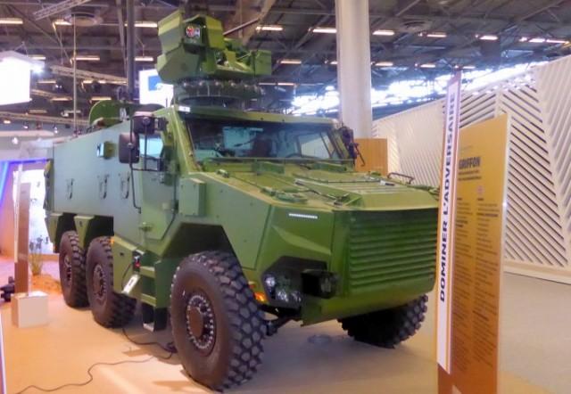 L'EBMR Griffon, l'un des nouveaux véhicules clés du programme Scorpion, exposé à Eurosatory 2018 (Photo : Forces Operations)