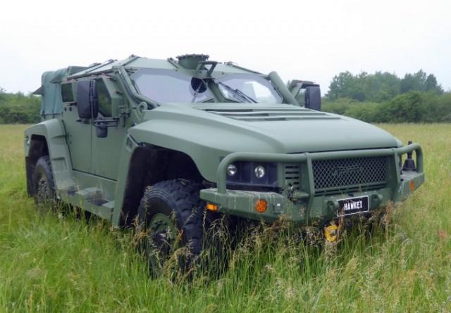 """Le Light Protected Vehicle """"Hawkei"""" de Thales, un concurrent très plausible au futur programme de VBAE (Véhicule Blindé d'Aide à l'Engagement) de l'Armée de Terre française (Photo : FOB)."""