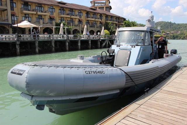 Le ZH1300 Interceptor de Zodiac Milpro en démonstration dans les eaux malaysiennes (Crédit photo: FOB)