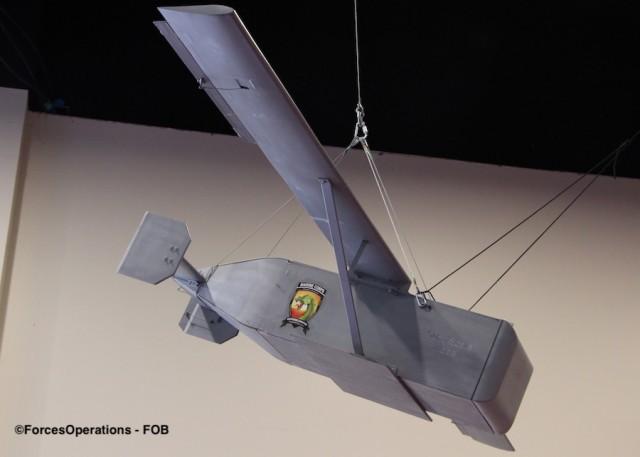 Un planeur LG-1K à l'échelle 1/2 présenté au salon SAS 2019