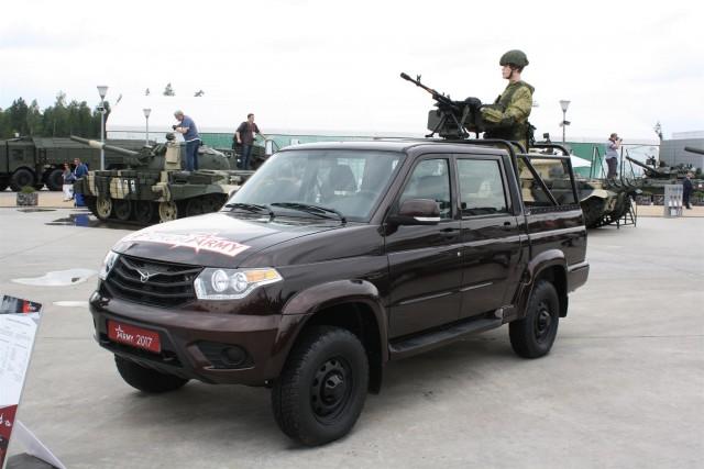 Les Russes ont aussi leur idée du véhicule militaire camouflé en véhicule commercial (Crédits : Nathan Gain / 2017)