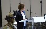 La ministre des Armées Florence Parly s'adresse aux forces spéciales françaises, le 13 juin au 4e RHFS de Pau