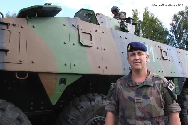 Le chef de bataillon Stéphane, commandant du SGTIA français participant à l'exercice Celtic Uprise 2019