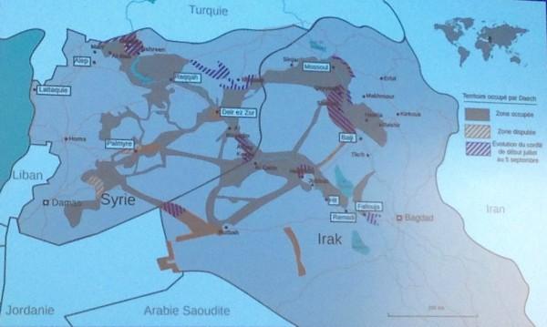 Carte de situation présentée par l'EMA (crédit photo: Christina Mackenzie)